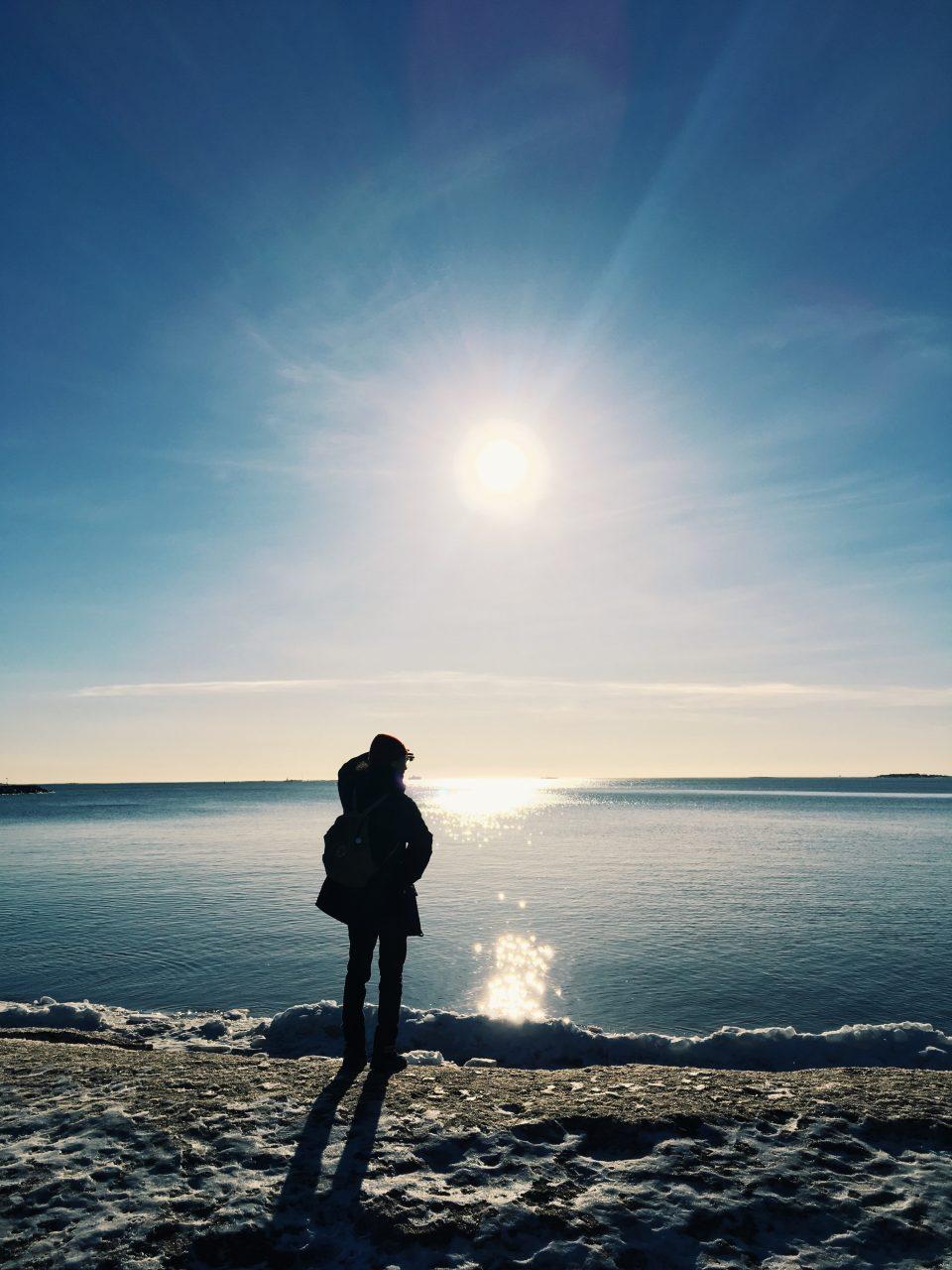 フィンランドヘルシンキの海
