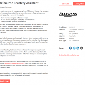 Melbourne Roastery Assistant at Allpress Espresso in Melbourne Scout by Broadsheet