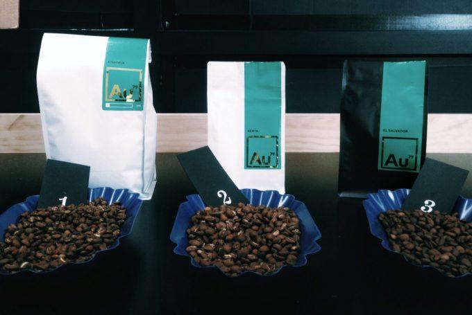 テイスティング用意したコーヒー3種類