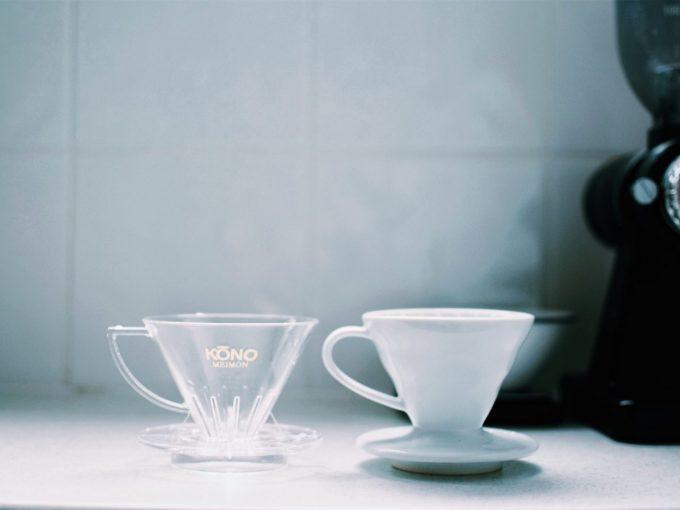 たまには息抜き、ハリオとコーノ各ドリッパーでコーヒーの飲みくらべ